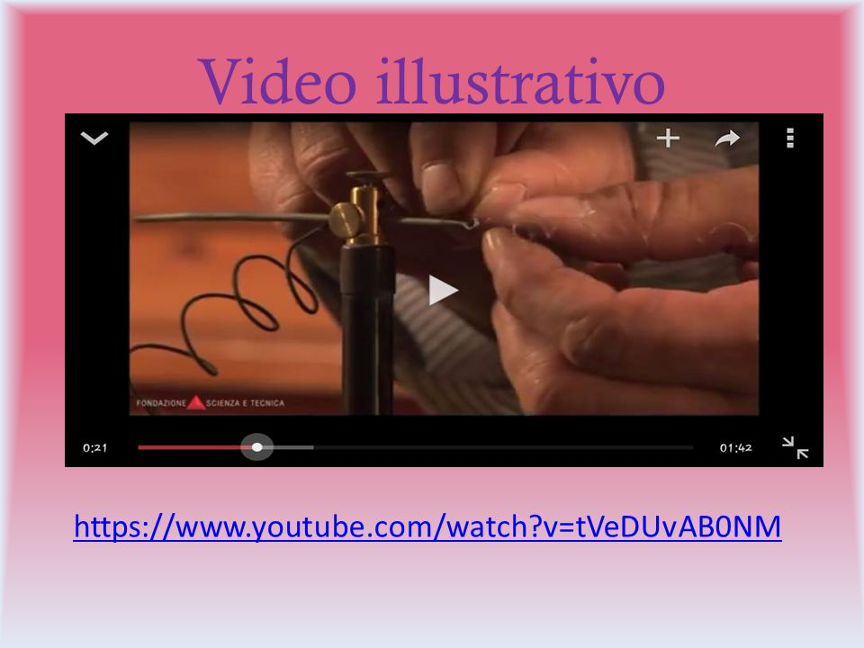 Video illustrativo https://www.youtube.com/watch v=tVeDUvAB0NM