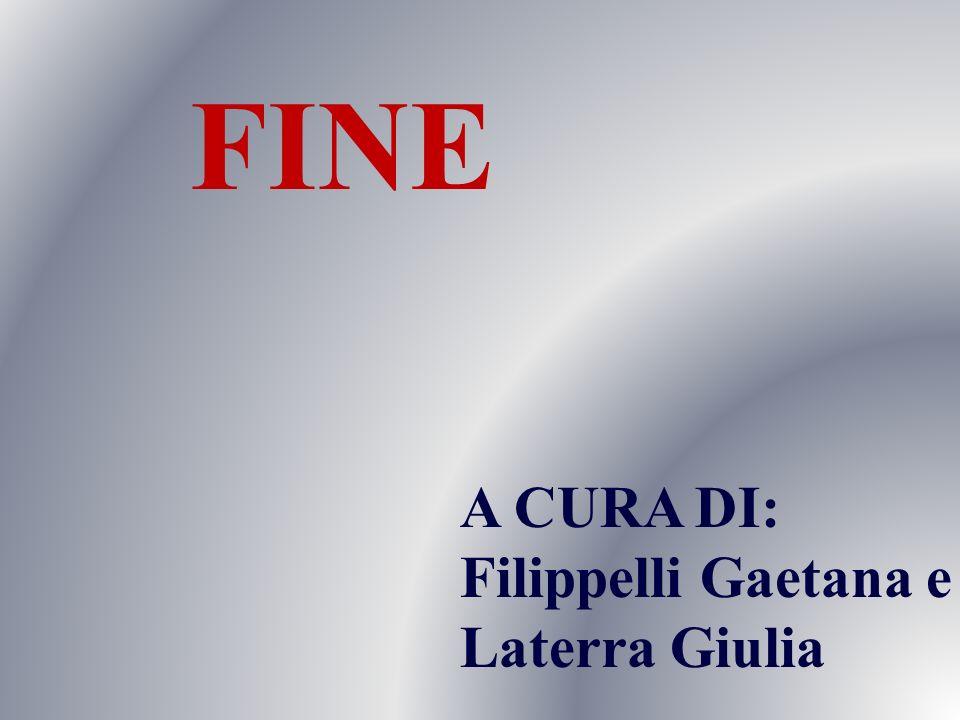 FINE A CURA DI: Filippelli Gaetana e Laterra Giulia