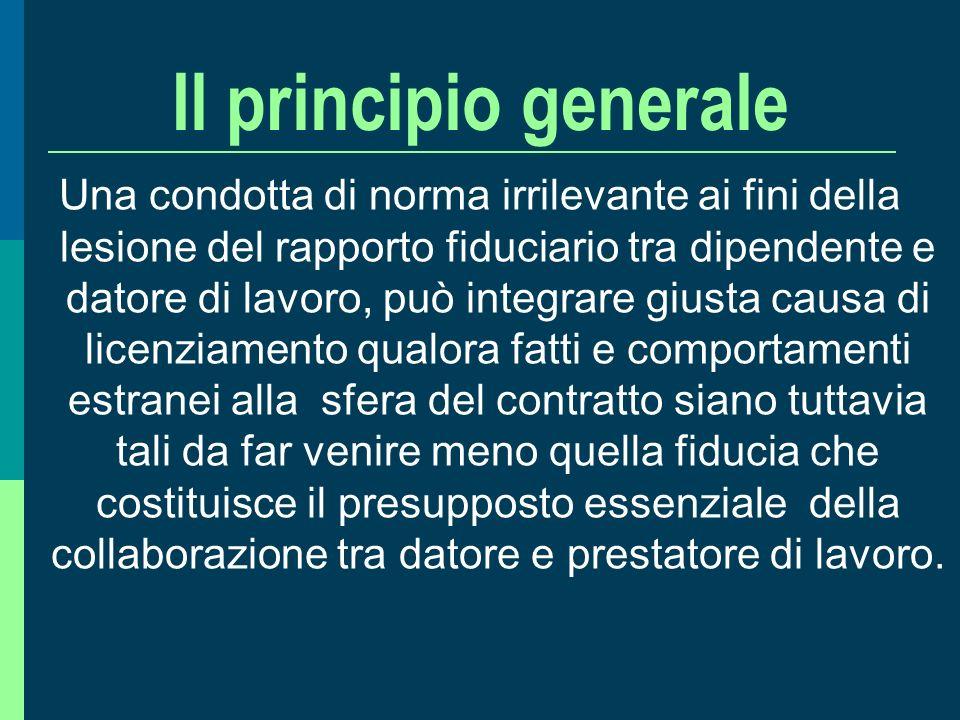 Il principio generale