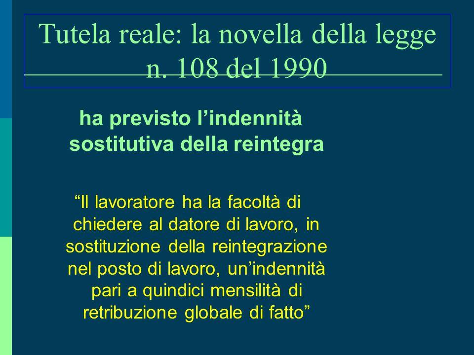 Tutela reale: la novella della legge n. 108 del 1990