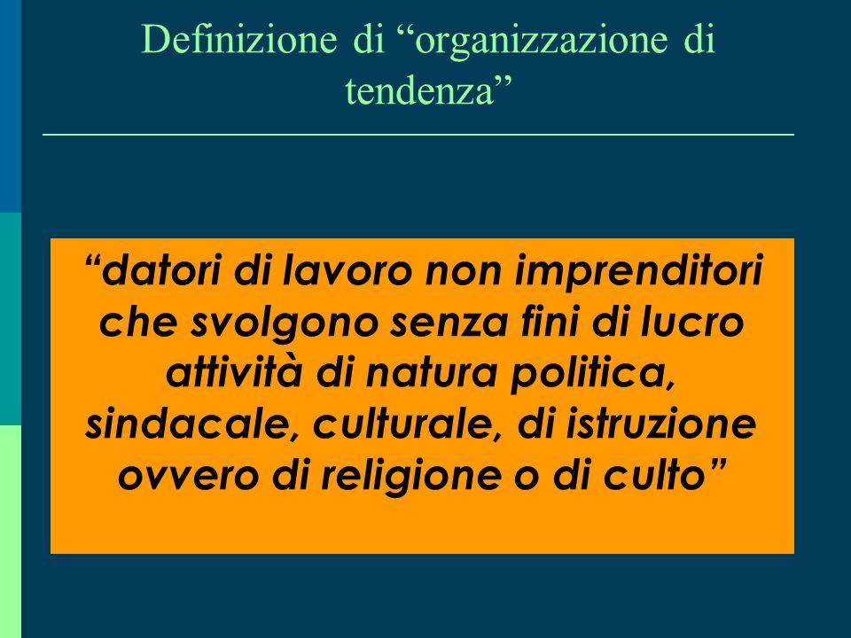 Definizione di organizzazione di tendenza