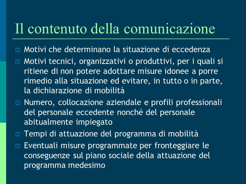 Il contenuto della comunicazione