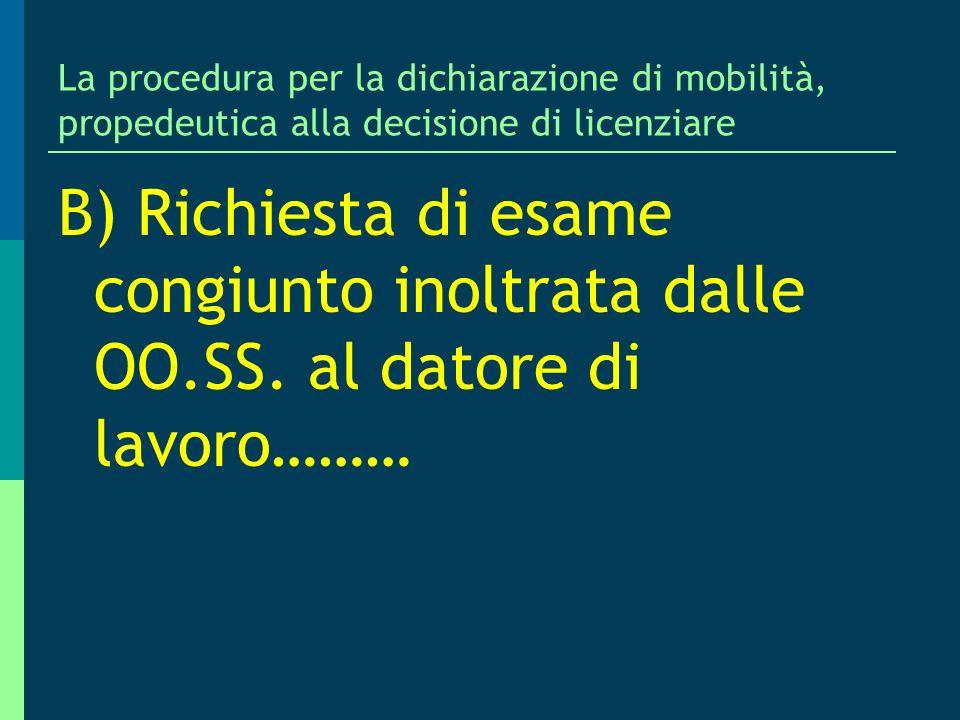 Prof. Antonio Lo Faro La procedura per la dichiarazione di mobilità, propedeutica alla decisione di licenziare.