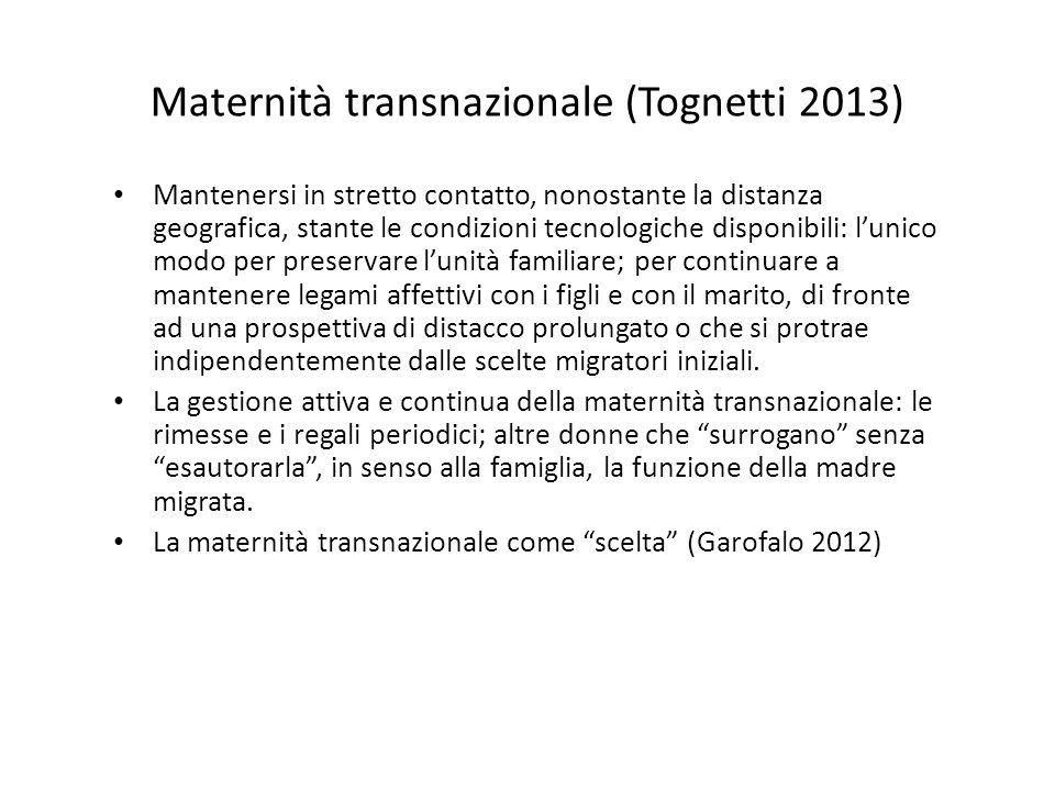 Maternità transnazionale (Tognetti 2013)