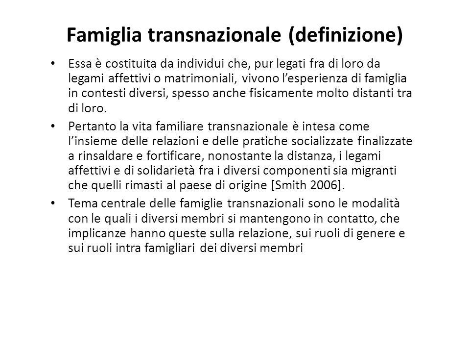 Famiglia transnazionale (definizione)