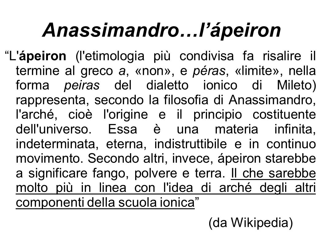 Anassimandro…l'ápeiron