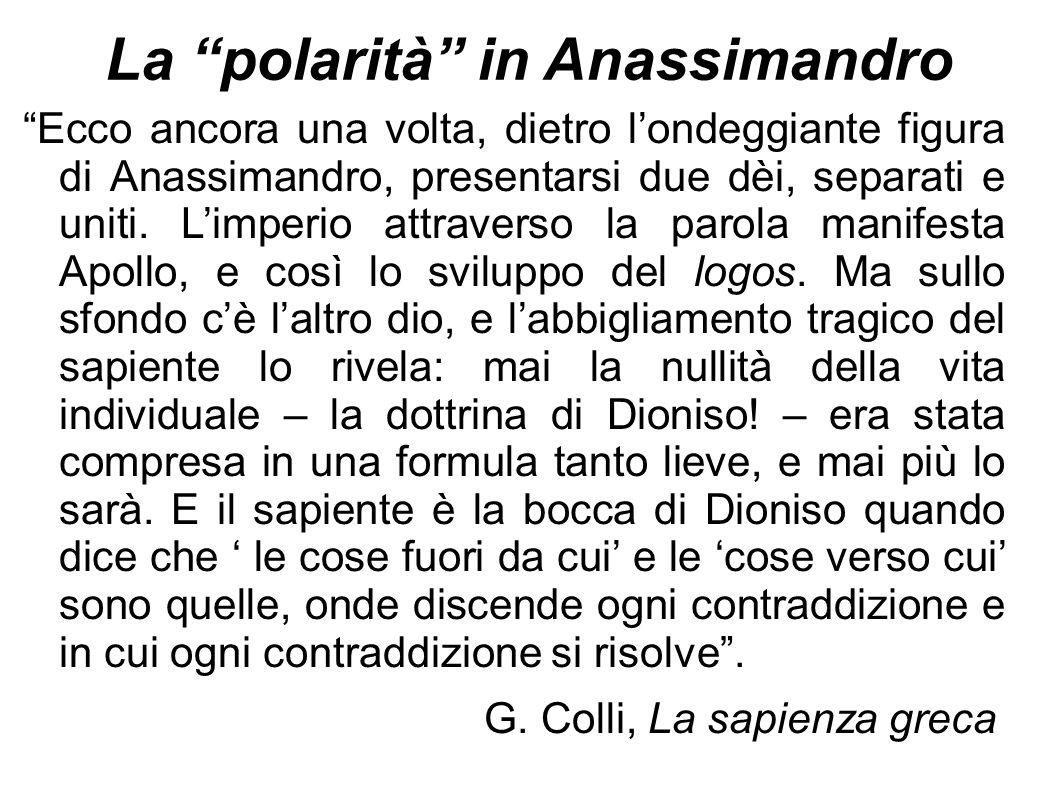 La polarità in Anassimandro