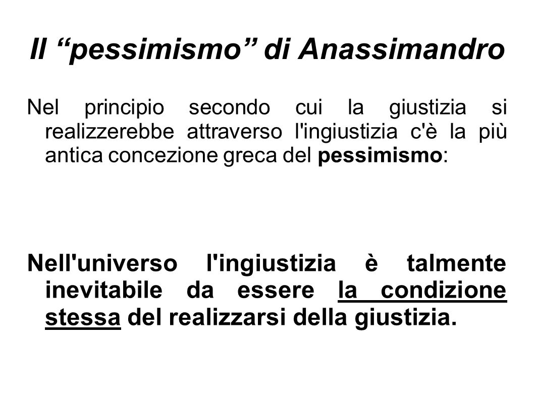 Il pessimismo di Anassimandro