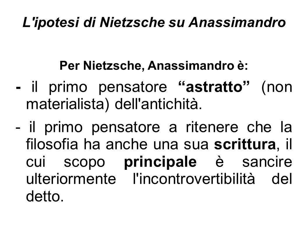 L ipotesi di Nietzsche su Anassimandro