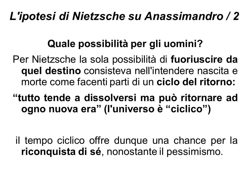 L ipotesi di Nietzsche su Anassimandro / 2
