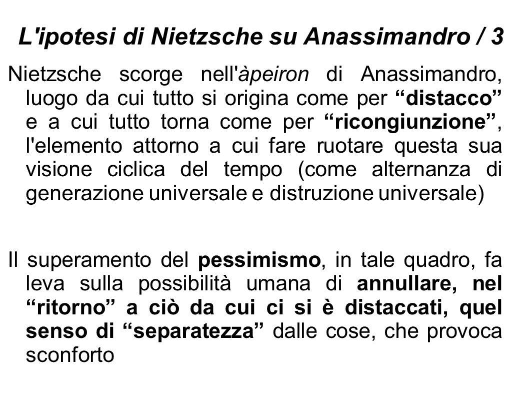 L ipotesi di Nietzsche su Anassimandro / 3