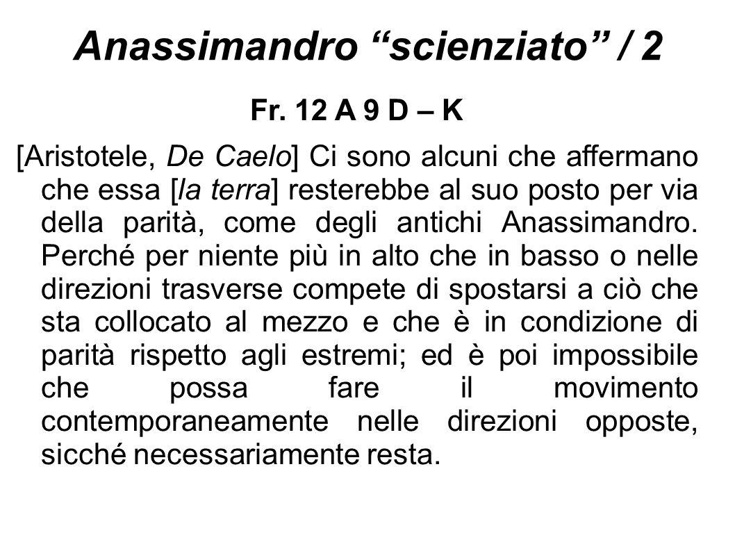 Anassimandro scienziato / 2