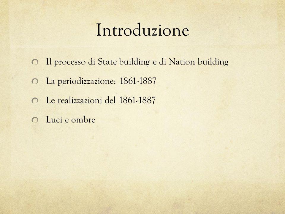 Introduzione Il processo di State building e di Nation building