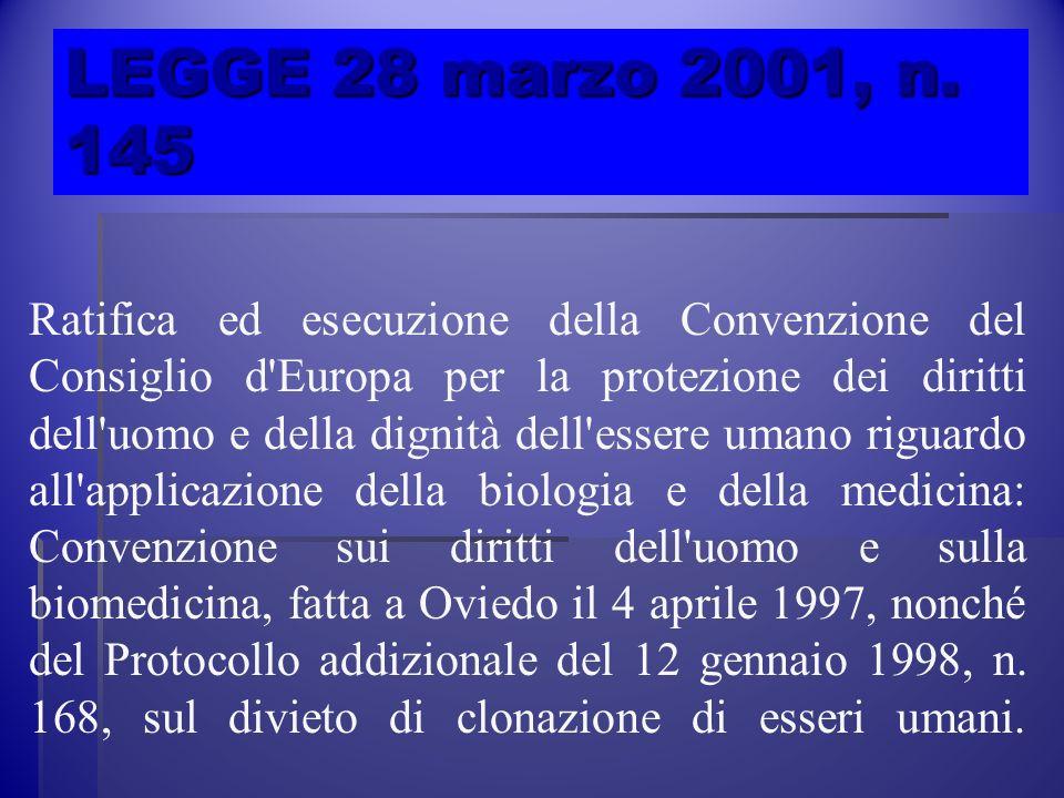 LEGGE 28 marzo 2001, n. 145