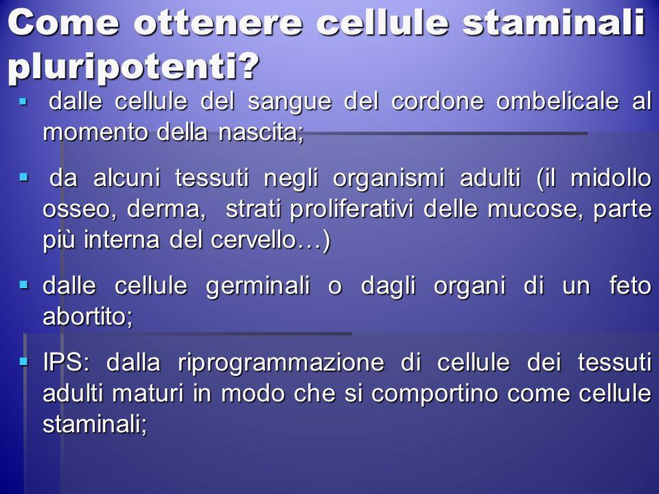 Come ottenere cellule staminali pluripotenti