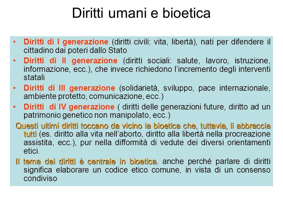 Diritti umani e bioetica