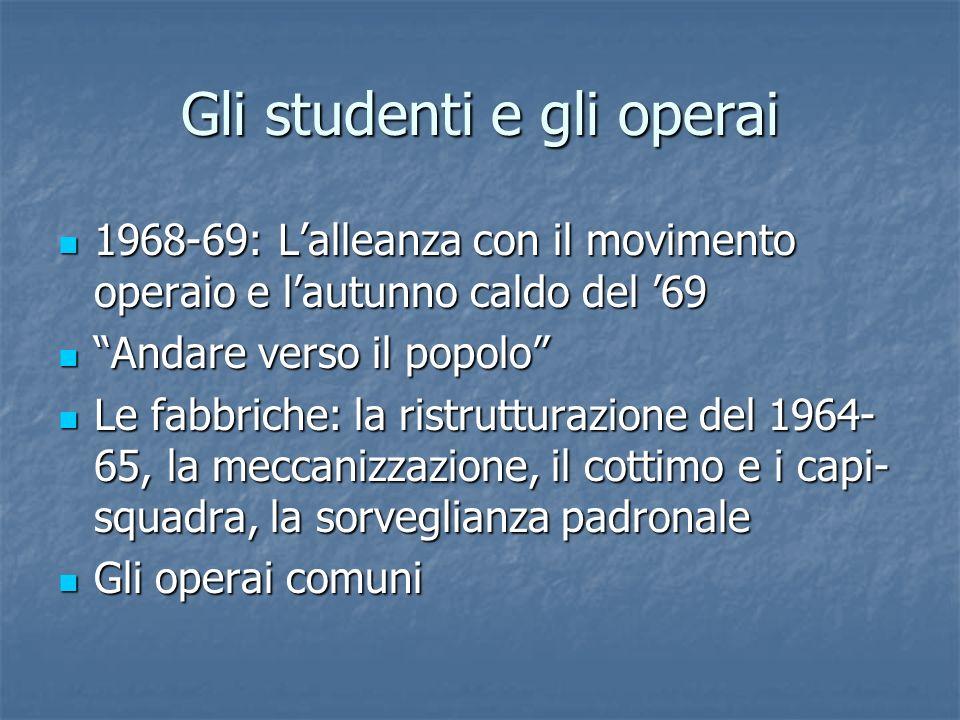 Gli studenti e gli operai