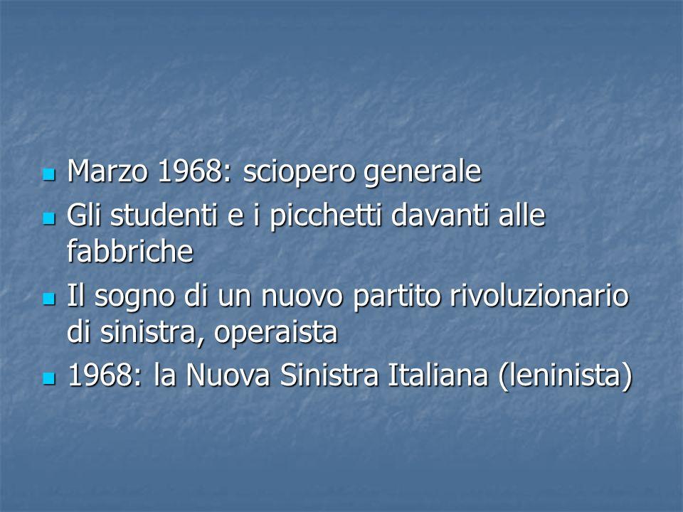 Marzo 1968: sciopero generale