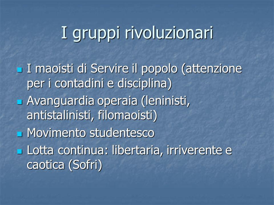 I gruppi rivoluzionari