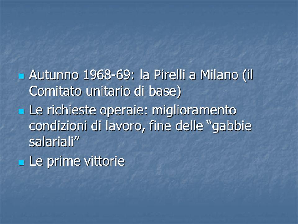 Autunno 1968-69: la Pirelli a Milano (il Comitato unitario di base)