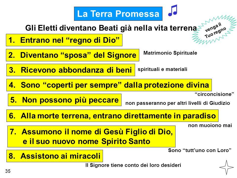 ♫ La Terra Promessa Gli Eletti diventano Beati già nella vita terrena