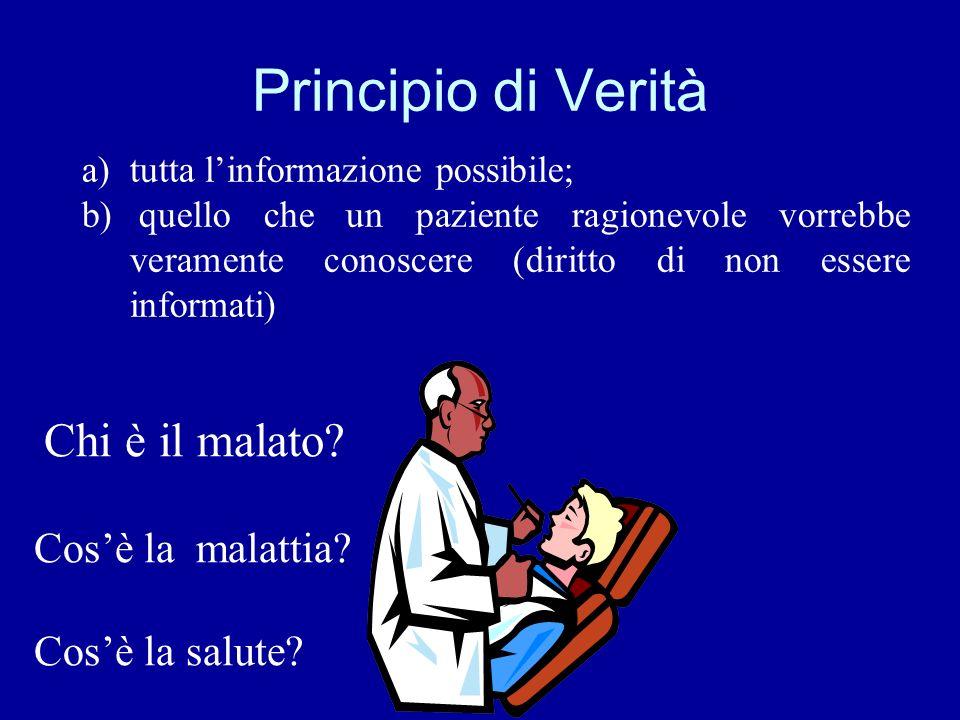 Principio di Verità Chi è il malato Cos'è la malattia