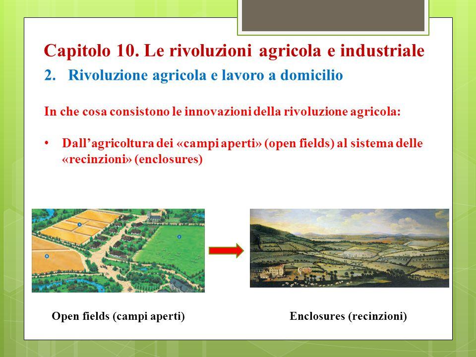 Capitolo 10. Le rivoluzioni agricola e industriale