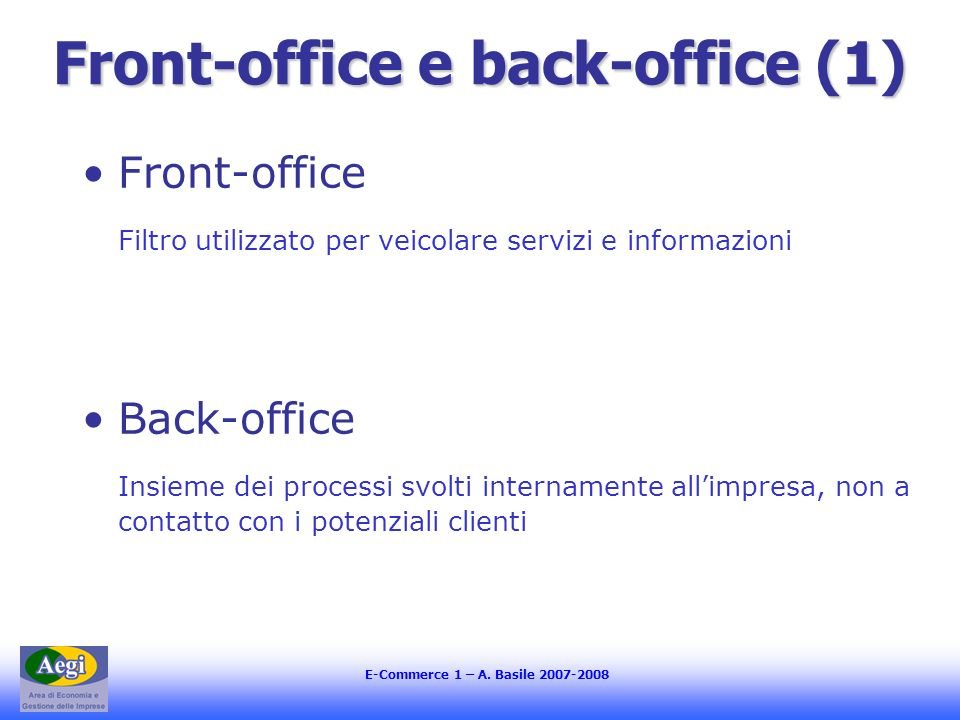 Front-office e back-office (1)