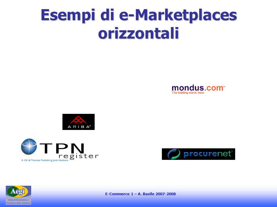 Esempi di e-Marketplaces orizzontali
