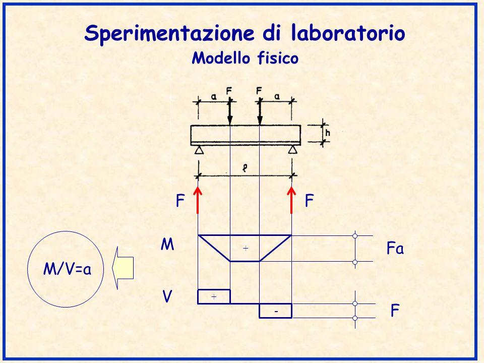 Sperimentazione di laboratorio Modello fisico