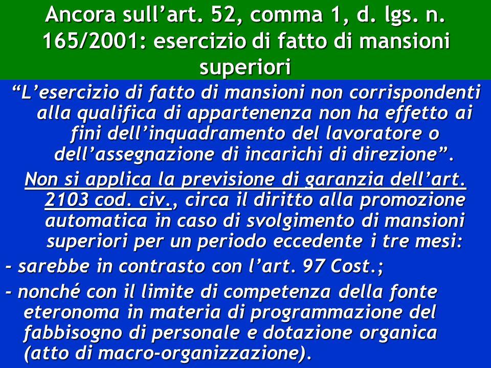 Ancora sull'art. 52, comma 1, d. lgs. n