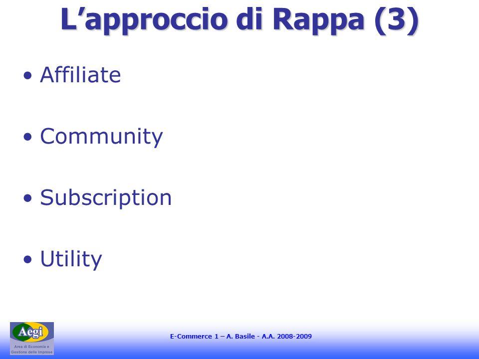 L'approccio di Rappa (3)