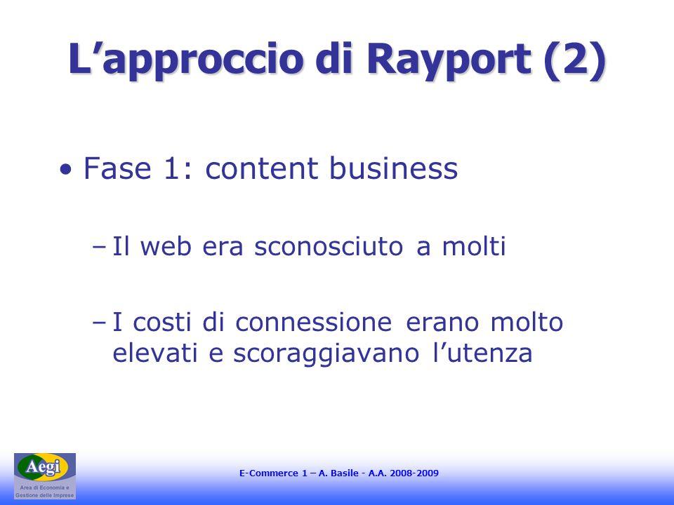L'approccio di Rayport (2)