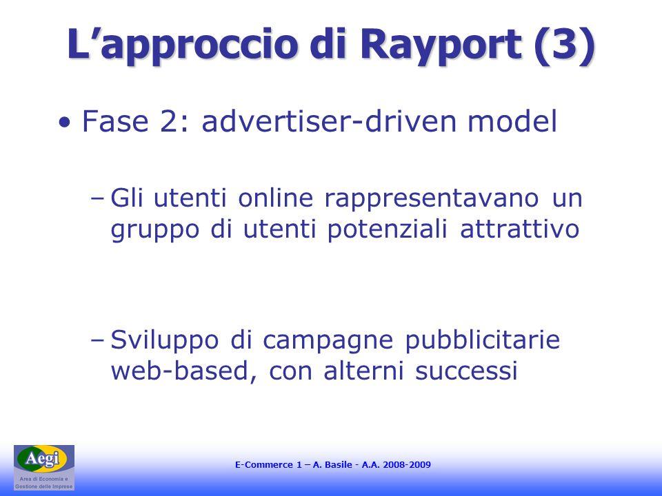 L'approccio di Rayport (3)