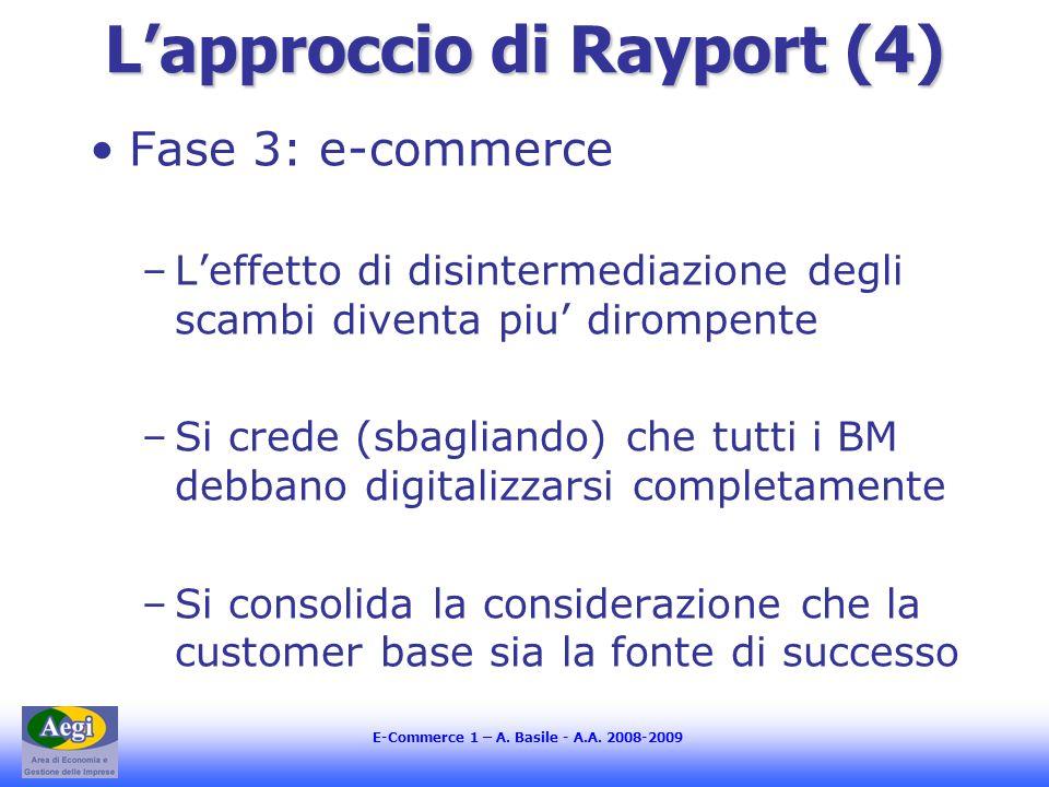 L'approccio di Rayport (4)