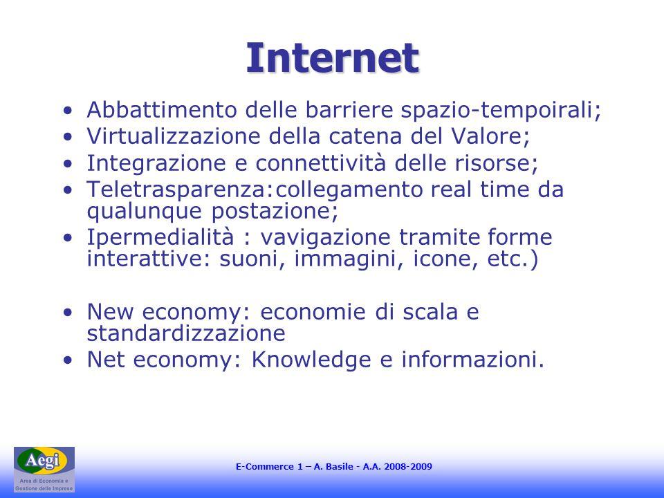 Internet Abbattimento delle barriere spazio-tempoirali;