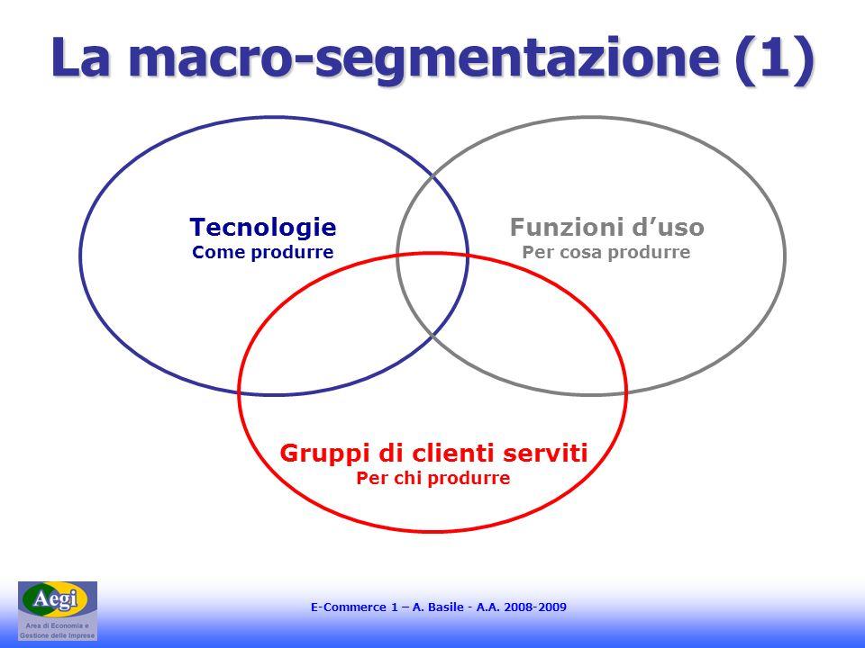 La macro-segmentazione (1)