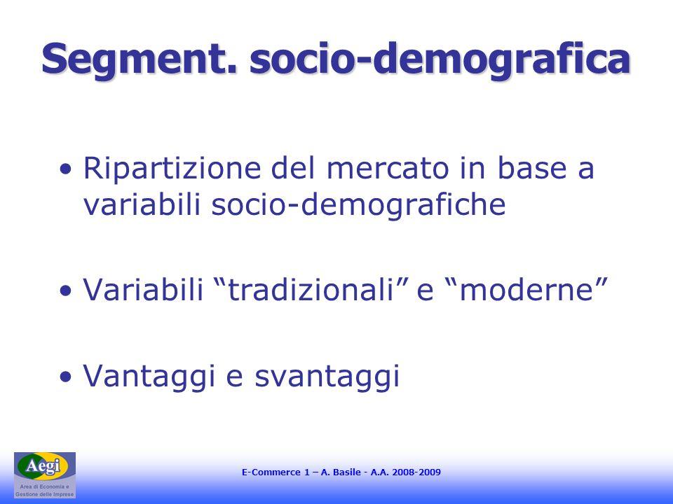 Segment. socio-demografica