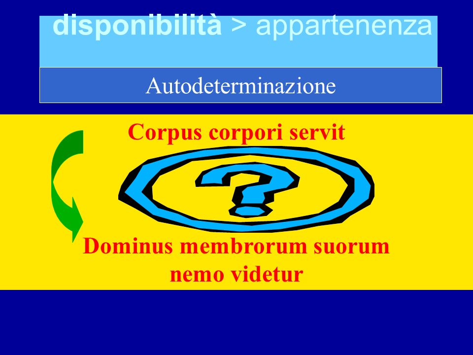 disponibilità > appartenenza