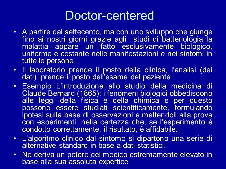 Doctor-centered