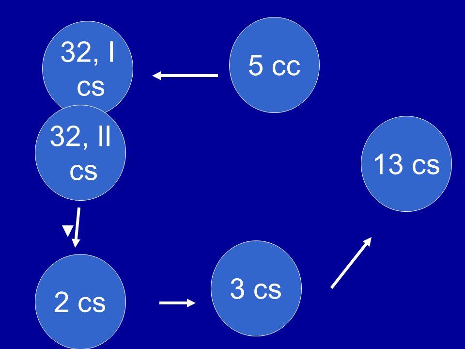 5 cc 32, I cs 32, II cs 13 cs 3 cs 2 cs