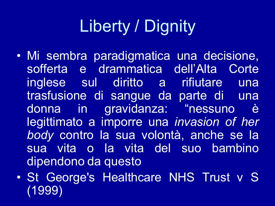 Liberty / Dignity