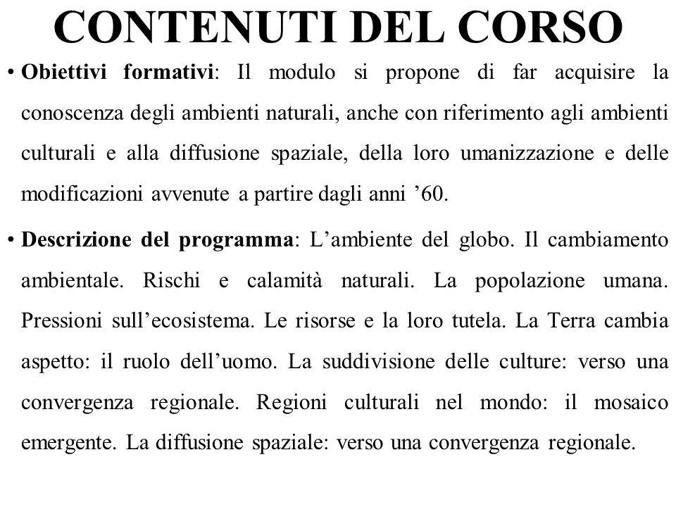 CONTENUTI DEL CORSO