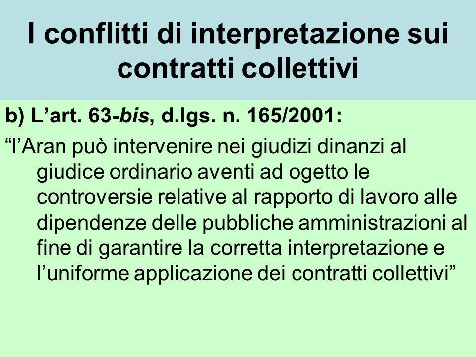 I conflitti di interpretazione sui contratti collettivi