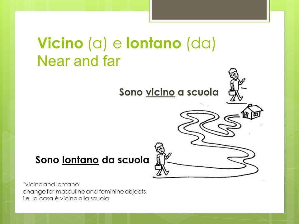 Vicino (a) e lontano (da) Near and far