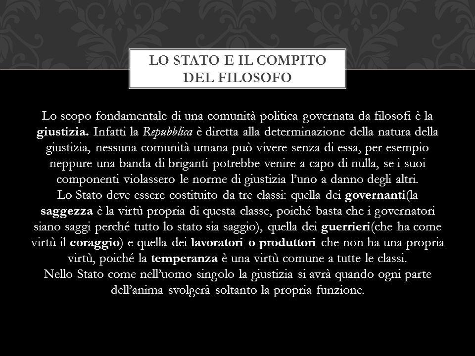 Lo STATO E IL COMPITO DEL FILOSOFO