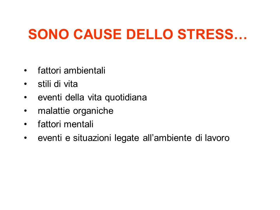 SONO CAUSE DELLO STRESS…