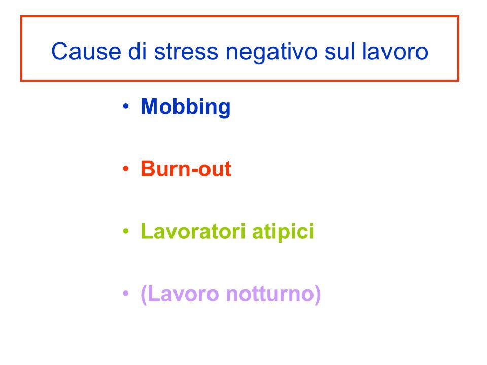 Cause di stress negativo sul lavoro