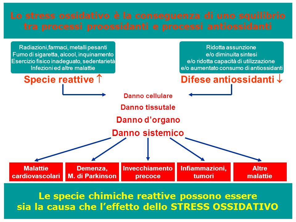 Specie reattive  Difese antiossidanti 