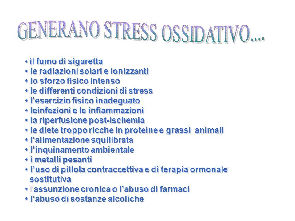 GENERANO STRESS OSSIDATIVO....